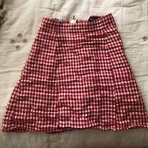 Reformation Red Gingham Mini Skirt Size 0